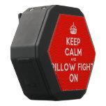 [Crown] keep calm and pillow fight on  Boombot REX Speaker Black Boombot Rex Bluetooth Speaker