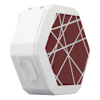 Boombot REX WHITE ABSTRACT LINES White Bluetooth Speaker