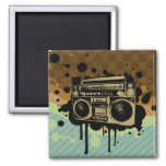 BoomBox 2 Inch Square Magnet