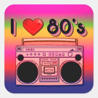 Boombox 80's Retro Stickers