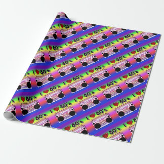 Boombox 80's Retro Wrapping Paper