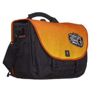 Boombox amarillo-naranja bolsas de portatil