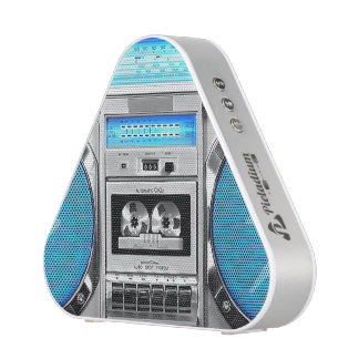Boombox azul altavoz
