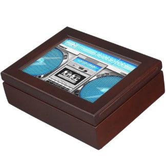 Boombox azul cajas de recuerdos