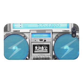 Boombox azul iPhone 5 coberturas