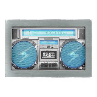 Boombox azul hebillas cinturon rectangulares