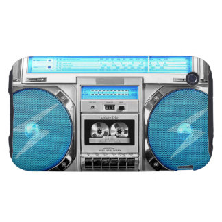 Boombox azul iPhone 3 tough protectores