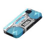 Boombox azul iPhone 4 carcasa