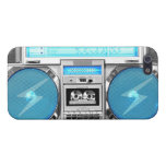 Boombox azul iPhone 5 carcasas