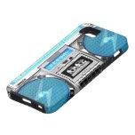 Boombox azul iPhone 5 funda