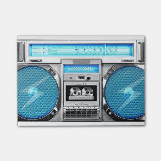 Boombox azul notas post-it®