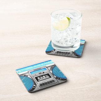 Boombox azul posavasos de bebida