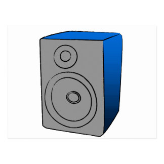 BOOMBOX azul Tarjeta Postal