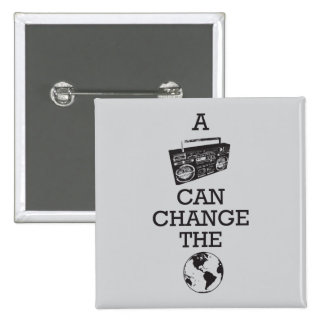 Boombox Can Change the World Pinback Button