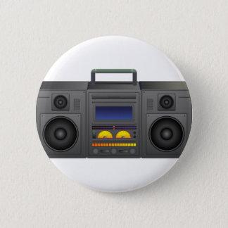 Boombox Cartoon Pinback Button