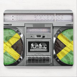 Boombox de Jamaica Tapete De Ratones