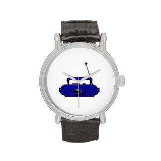 boombox del casete con las notas bluish.png reloj de mano