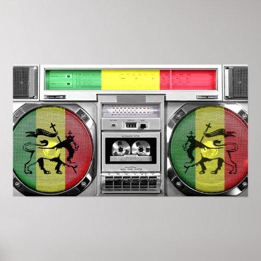 boombox del reggae impresiones
