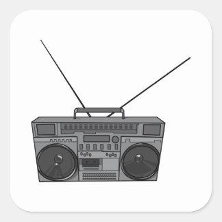 Boombox Ghetto Blaster Jambox Radio Cassette Square Stickers