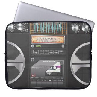 Boombox Ghetto Blaster Laptop Computer Sleeve