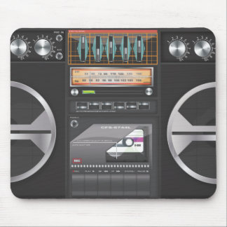 Boombox Ghetto Blaster Mouse Pad