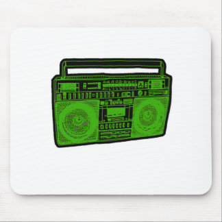 boombox ghetto blaster radio mouse pad