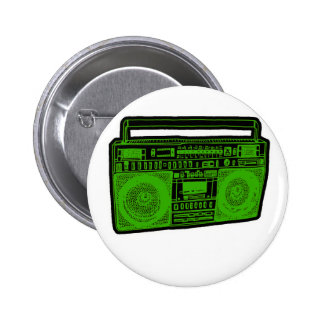 boombox ghetto blaster radio pinback button