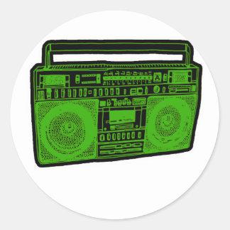 boombox ghetto blaster radio sticker