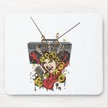 Boombox Girl ~ Retro Music Fantasy Art Mousepad
