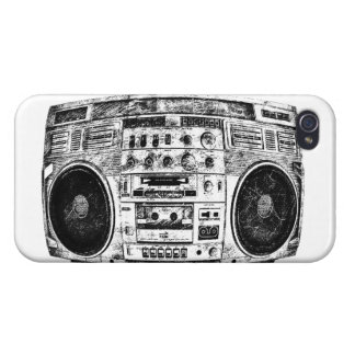 Boombox graffiti cover for iPhone 4
