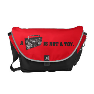 Boombox Is Not a Toy Messenger Bag