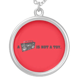 Boombox Is Not a Toy Silver Plated Necklace