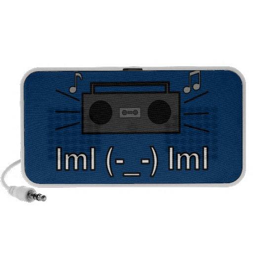 Boombox lml (-_-) lml Speakers (Blue)
