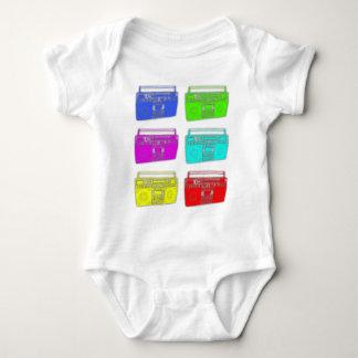 BOOMBOX multi color raver Baby Bodysuit