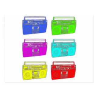 BOOMBOX multi color raver Postcard