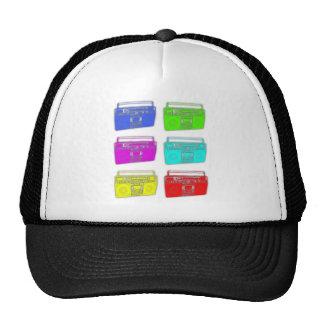 BOOMBOX multi color raver Trucker Hat