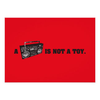 Boombox no es un juguete impresiones