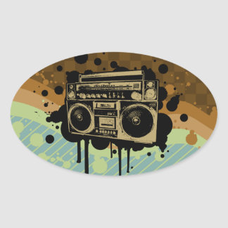 BoomBox Oval Sticker