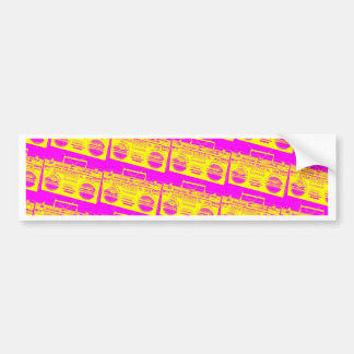 Boombox Pattern Bumper Sticker