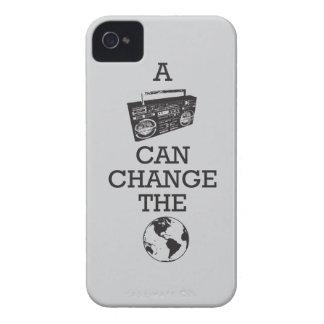 Boombox puede cambiar el mundo Case-Mate iPhone 4 fundas