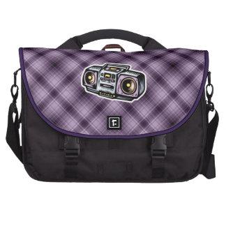 Boombox púrpura bolsa de ordenador