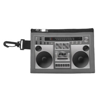 Boombox Radio Graphic Accessories Bag