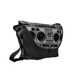Boombox Radio Graphic Courier Bag