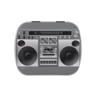 Boombox Radio Graphic Jelly Belly Candy Tin