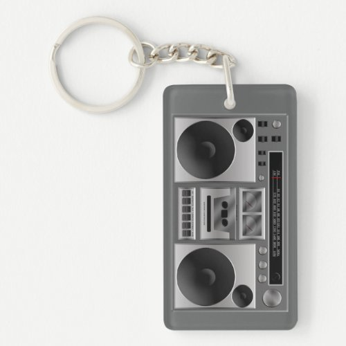 Boombox Radio Graphic Keychain