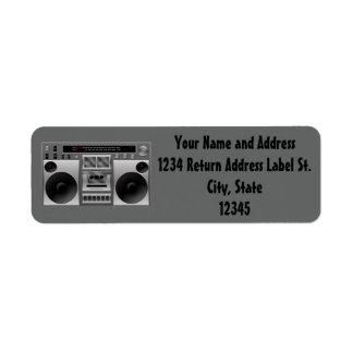 Boombox Radio Graphic Label