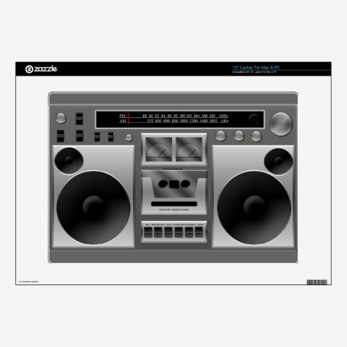 Boombox Radio Graphic Laptop Skins