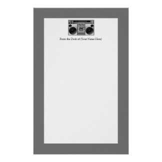 Boombox Radio Graphic Stationery