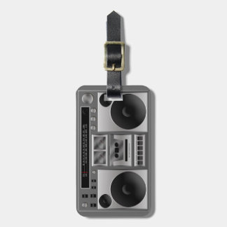 Boombox Radio Graphic Tag For Luggage