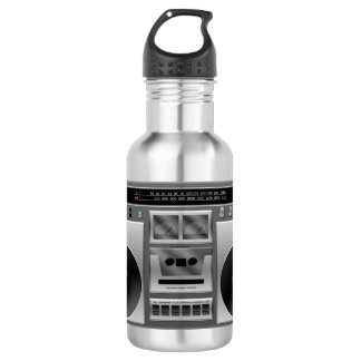 Boombox Radio Graphic Water Bottle